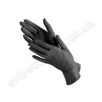 Перчатки нитриловые чёрные 100 шт.