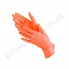 Перчатки нитриловые оранжевый 100 шт.