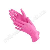 Перчатки нитриловые розовый 100 шт.