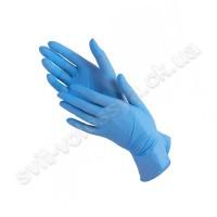 Перчатки нитриловые голубые 100 шт.